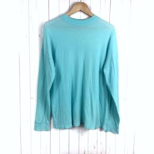 Pink Victoria's Secret Turquoise Thermal Shirt